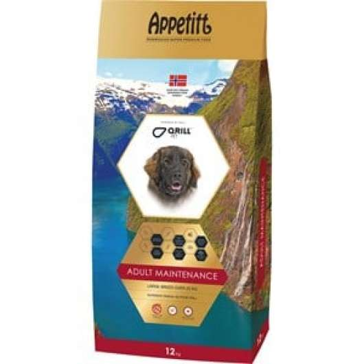 Hundfoder Appetitt Adult Maintenance Large Breed, 12 kg