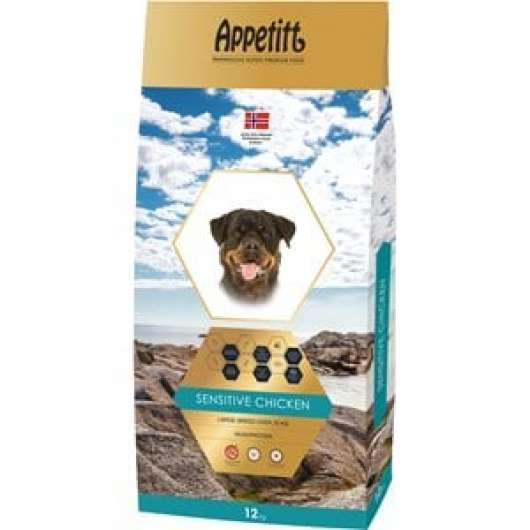 Hundfoder Appetitt Sensitive Chicken Large Breed, 12 kg