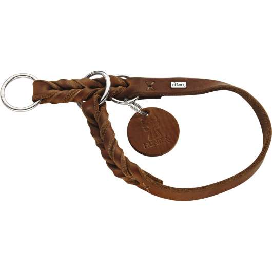 Hundhalsband Hunter Solid Education, Cognac