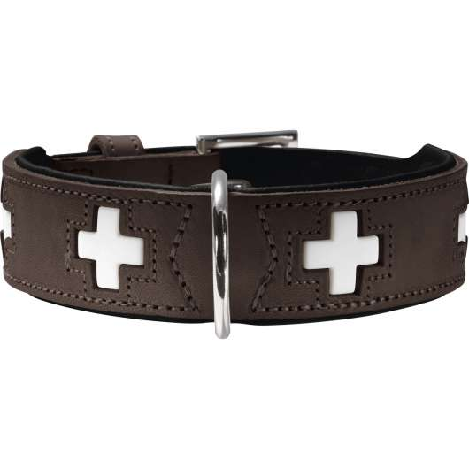 Hundhalsband Hunter Swiss, Brun